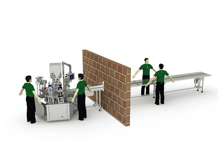 Automatic Water Cream Filling Line (Rotary type)